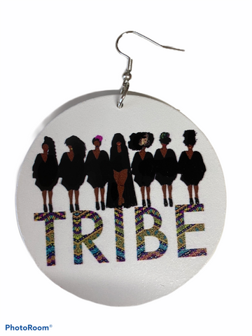 tribe earrings afrocentric jewelry natural hair accessories african american ear candy gift idea urban unique different christmas kwanzaa birthday women owned minority own business woman