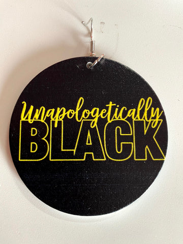 'Unapologetically Black' Earrings | Afrocentric Earrings | Natural Hair Earrings | Afrocentric Jewelry