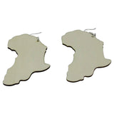 natural (paintable) map of africa earrings