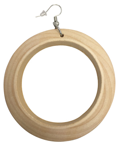 round wooden hoop earrings, wood jewelry, accessories, fashion, outfit, idea, natural color