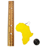 yellow map of africa earring