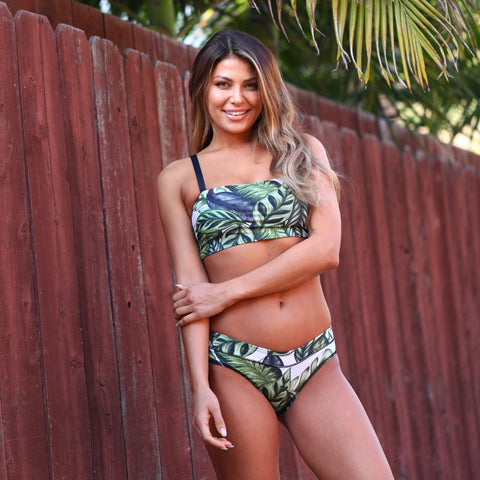 YD SWIM LEAF IT TO ME Eco Bandeau Top