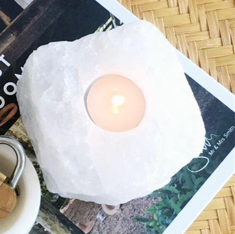 Quartz Crystal Candle Holder