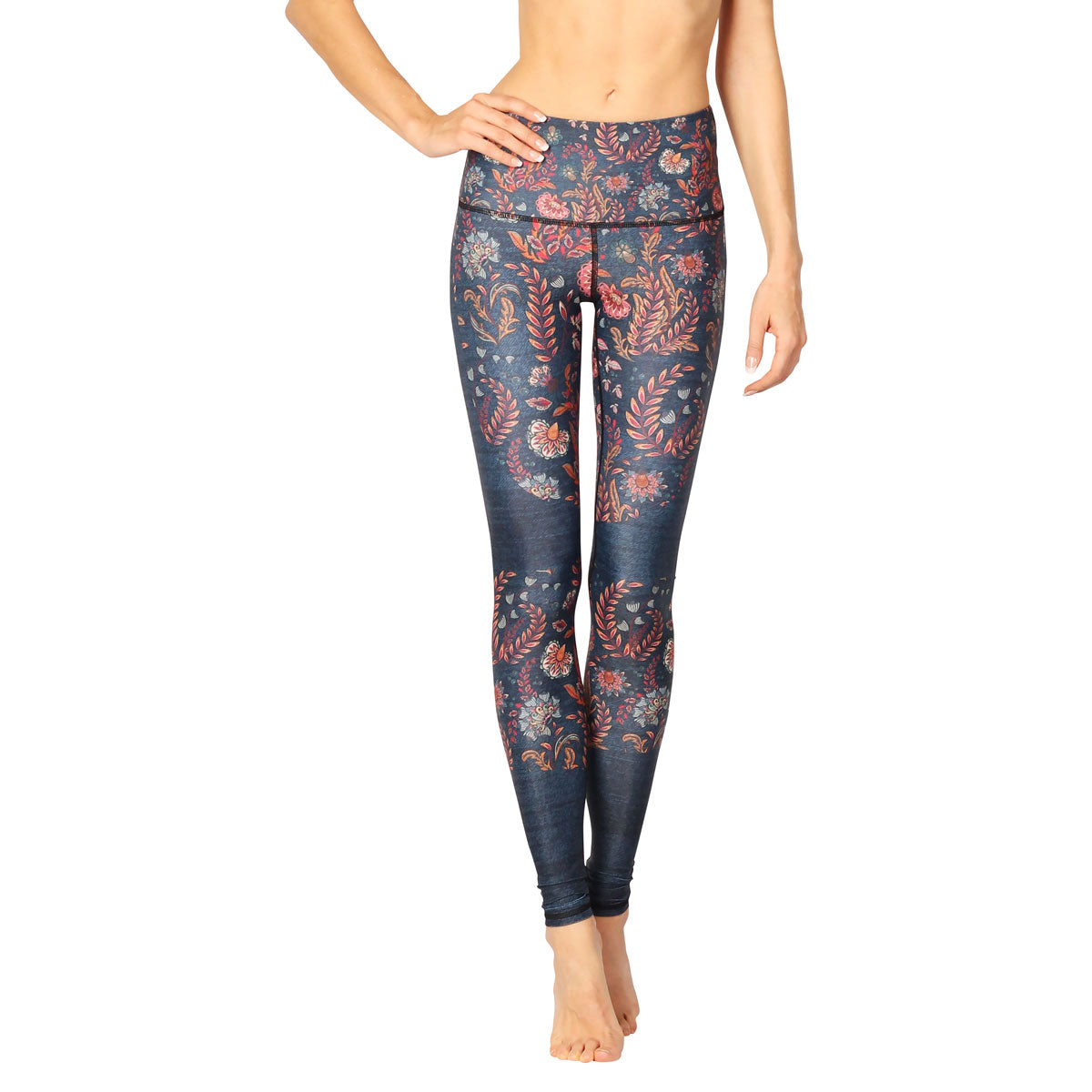 YOGA DEMOCRACY Festival Denim Eco Yoga Leggings