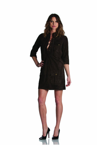 fb469517f5ac EM7342SU - SUEDE DARK BROWN DRESS Dress - Etienne Marcel Denim ...
