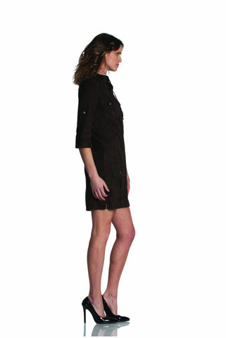 a29d2502d1c1 ... EM7342SU - SUEDE DARK BROWN DRESS Dress - Etienne Marcel Denim