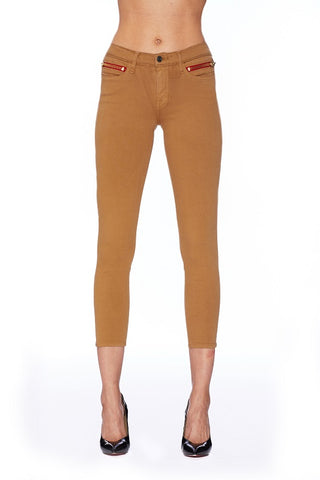EM2014-MUSTARD HIGH WAISTED SKINNY CROP PANT Pants - Etienne Marcel Denim