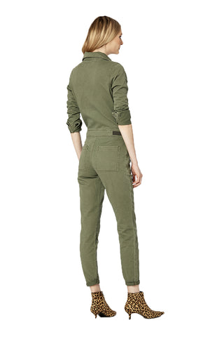 EM3006- FRONT ZIP JUMPSUIT - MILITARY JUMPSUIT - Etienne Marcel Denim