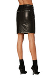 EM4009 Leather Skirt Skirt - Etienne Marcel Denim