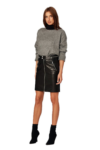 EM4009 Leather Skirt - Etienne Marcel Denim From Los angeles