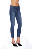 EM7010 MEDIUM WASH-Signature Skinny W/ Red Zipper Denim - Etienne Marcel Denim