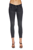 EM7010 ASH Grey -Signature Skinny W/ Red Zipper Denim - Etienne Marcel Denim