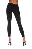 EM7010 BLACK-Signature Skinny W/ Red Zipper Denim - Etienne Marcel Denim
