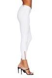 EM7010 WHITE-Signature Skinny W/ Red Zipper Denim - Etienne Marcel Denim
