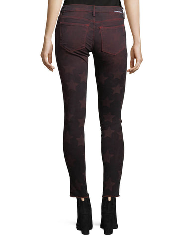 ROOS RED SKINNY DENIM WITH STARS  EM7434 ETIENNE MARCEL DENIM