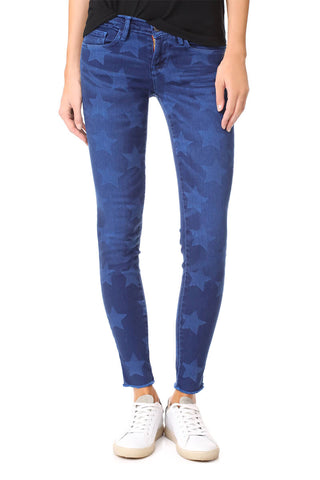 ROOS BLUE SKINNY DENIM WITH STARS  EM7434 ETIENNE MARCEL DENIM