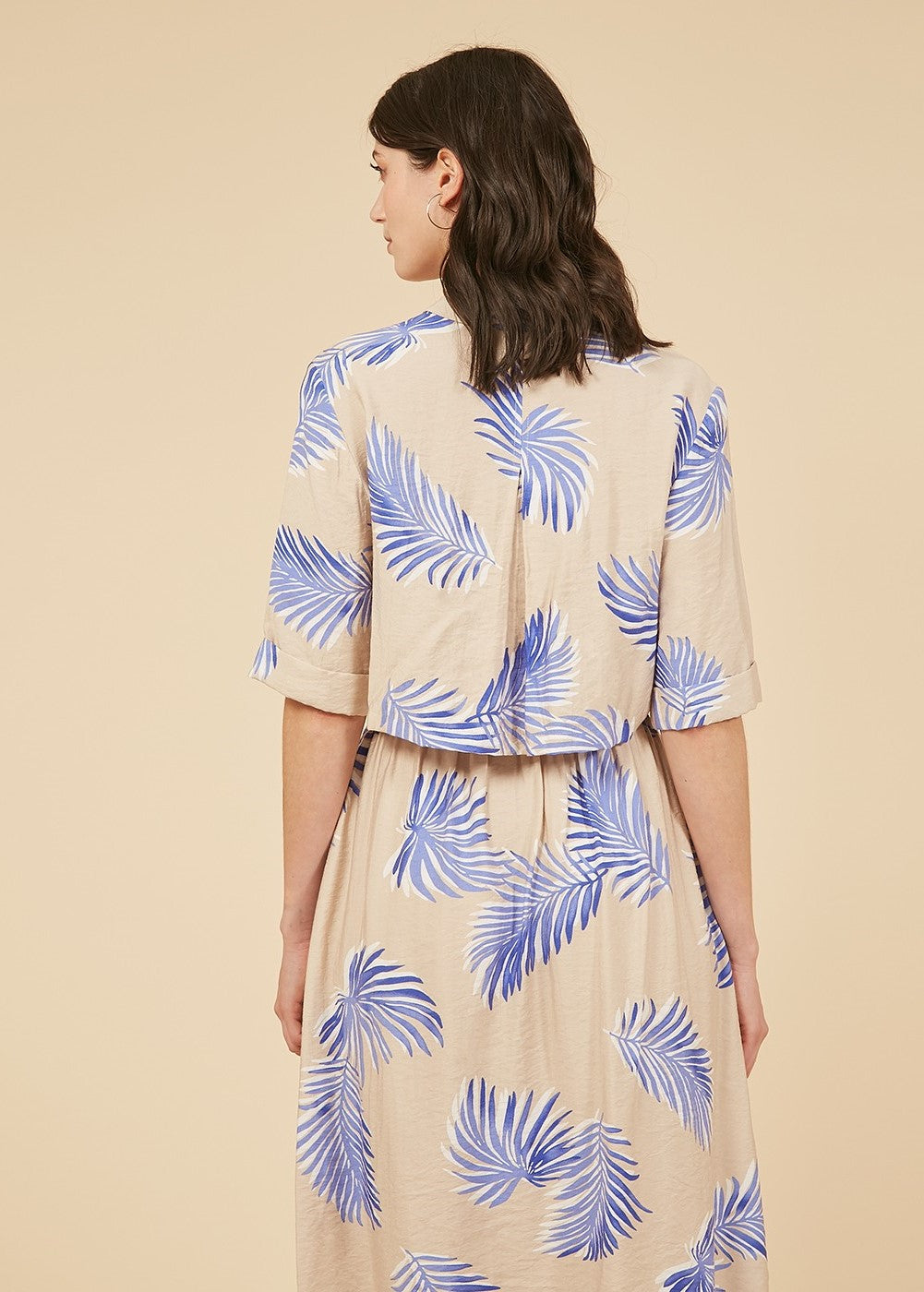 Audelle Button Up Open Back Dress