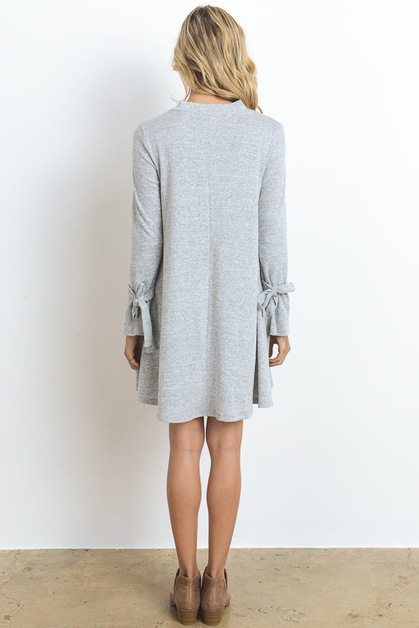 L/S Dress with Wrist Ties
