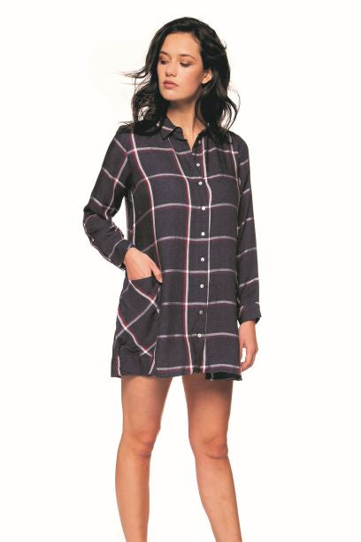 Plaid Oversized Dress