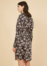 Load image into Gallery viewer, Palm Print Anaid Tie Front Dress