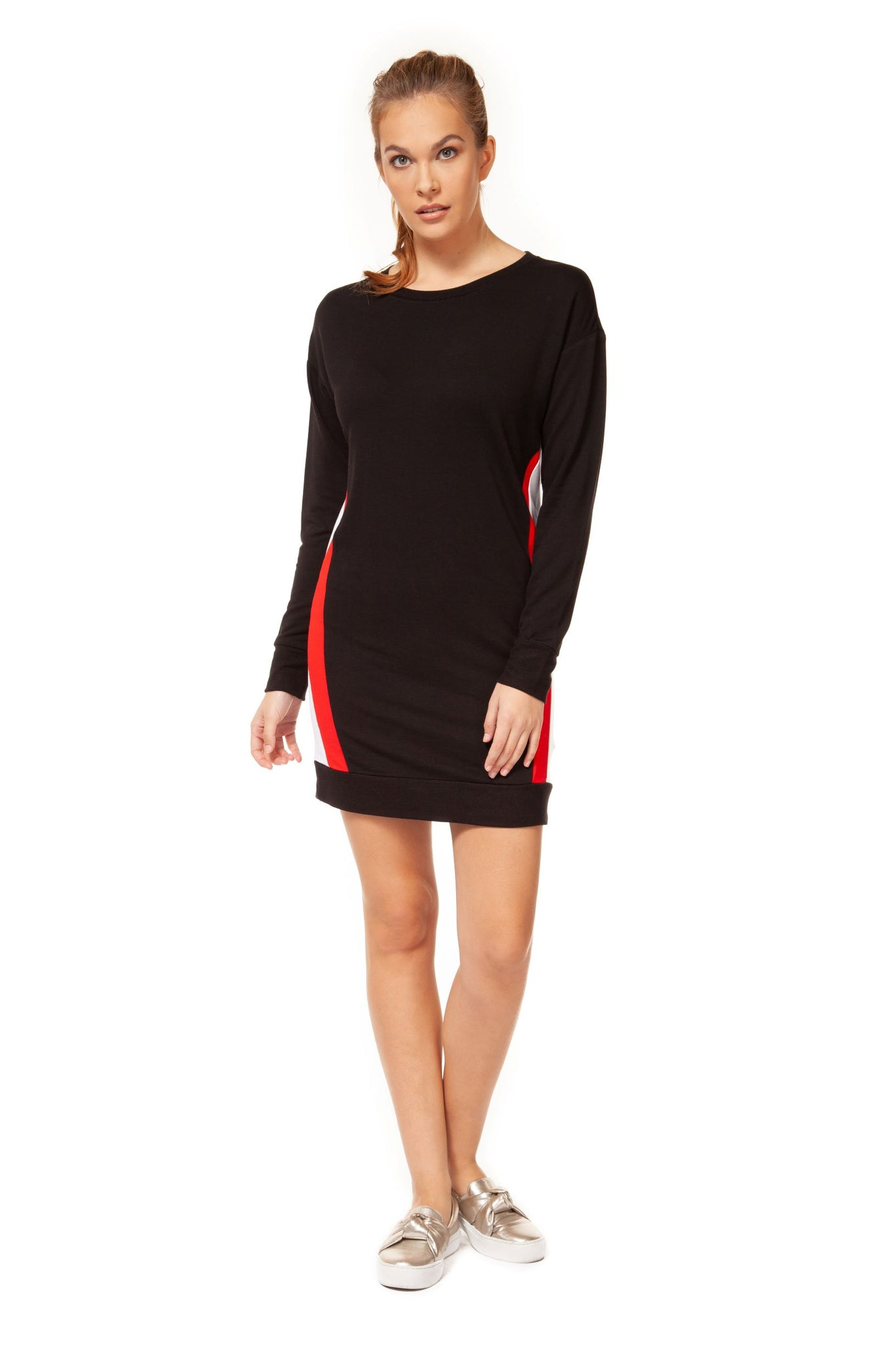 Varsity Side Contrast Dress