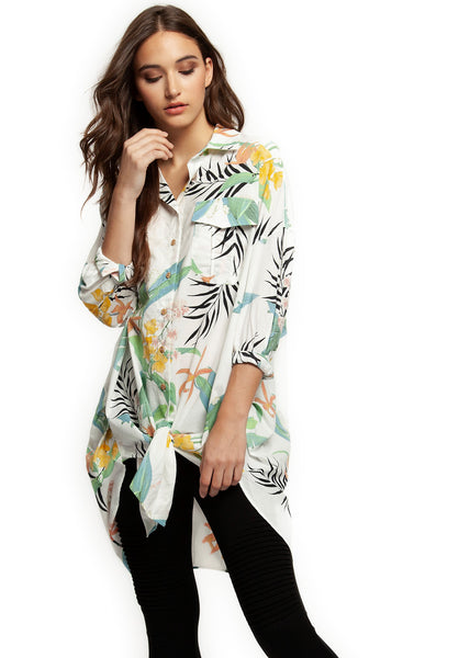 Oversize Tropical Tunic