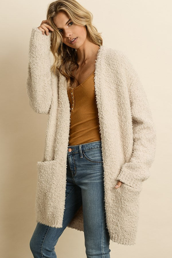Ultra Soft Teddy Cardigan