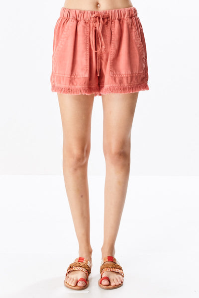Fringe Trim Shorts