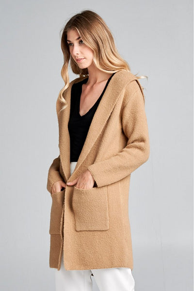 Soft Hooded Cardigan