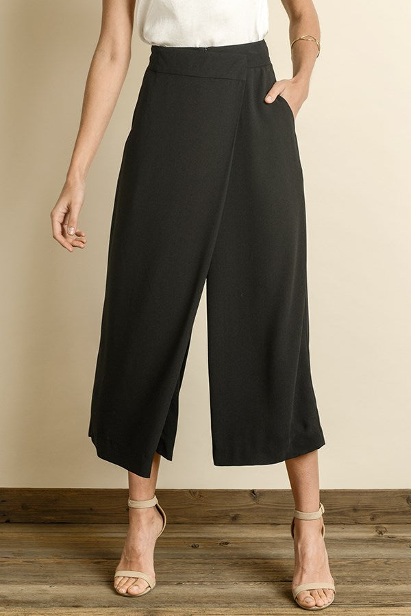 Faux Wrap Trouser Pants