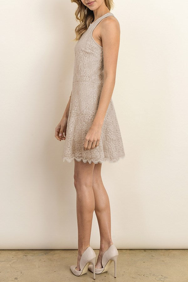 Flared Bottom Lace Dress