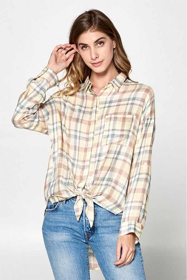 Running Plaid Blouse