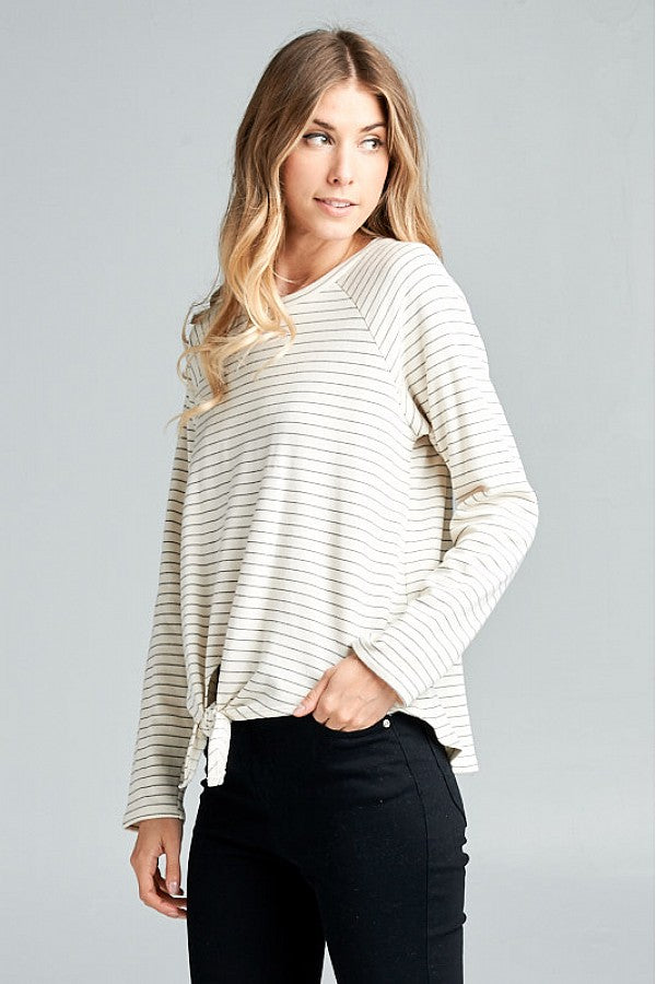 French Terry Striped Top