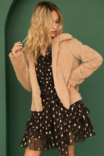 Load image into Gallery viewer, Faux Fur Jacket with Leopard Lining