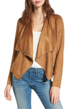Load image into Gallery viewer, Waterfall Faux Leather Jacket