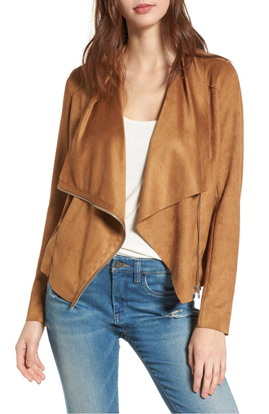 Waterfall Faux Leather Jacket