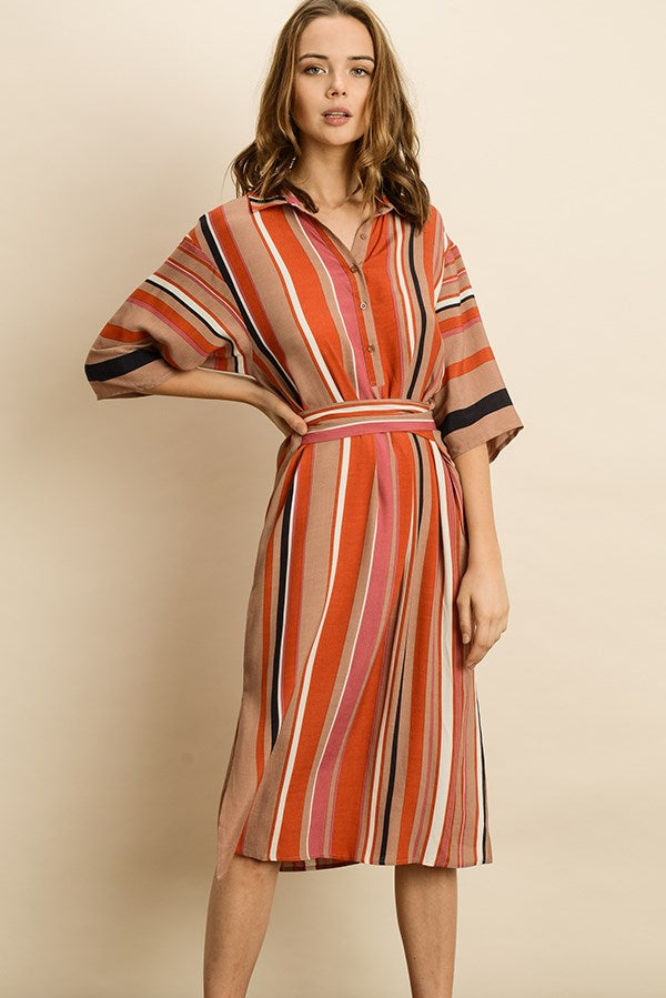 Endless Stripe Midi Dress