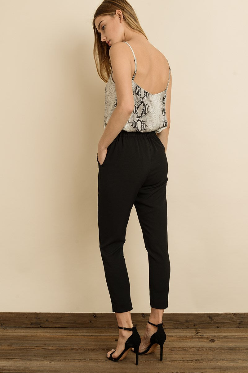 High-Waisted Cigarette Pants