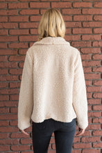 Load image into Gallery viewer, Faux Shearling Drape Front Jacket