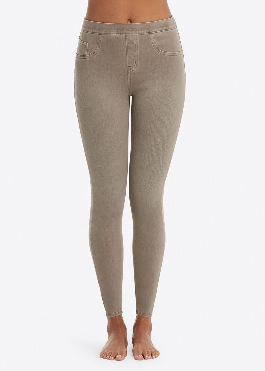 Earthy Taupe Spanx Jeanish Ankle Leggings