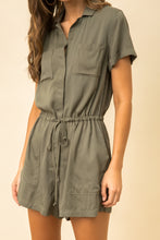 Load image into Gallery viewer, Cinch Waist Utility Romper
