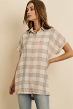 Load image into Gallery viewer, Plaid Button Down Tunic