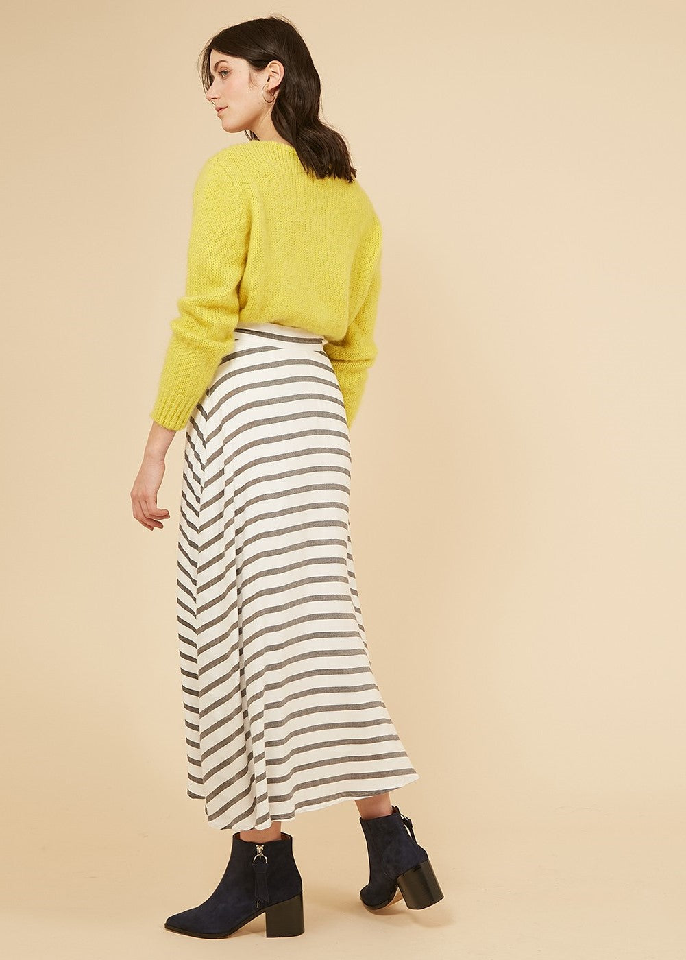 Elisia Midi Stripe Skirt