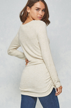 Load image into Gallery viewer, Super Soft Side Ruching Knit Top