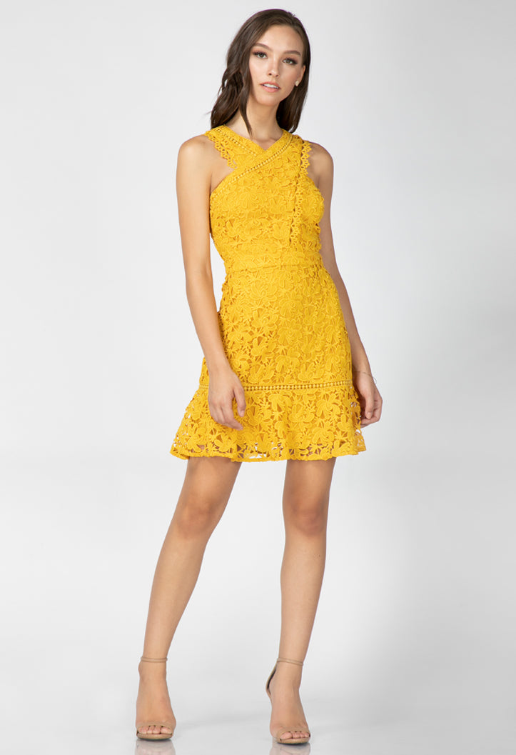 Jessie Woven Lace Dress