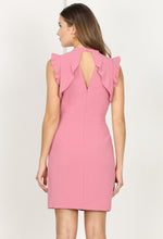 Load image into Gallery viewer, Rosetta Ruffle Woven Sheath Dress