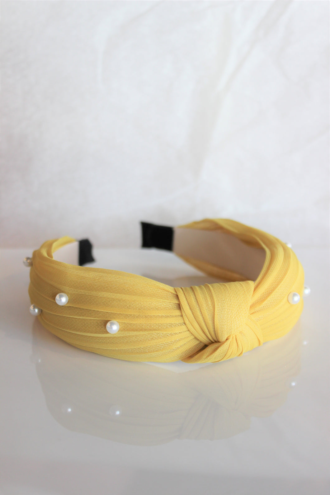 Dandelion Pearl Knotted Headband