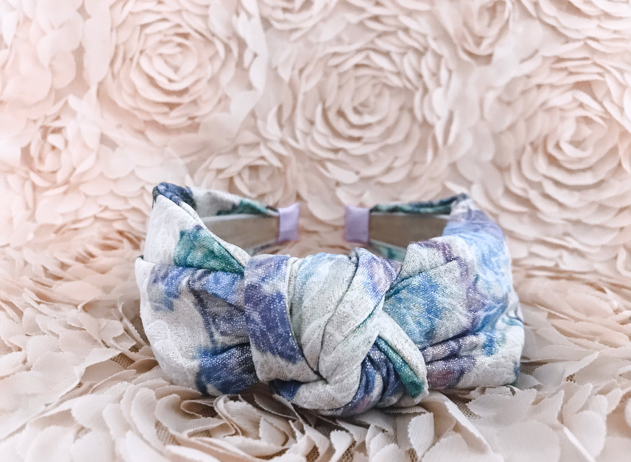 Jacquard Floral Knotted Headband