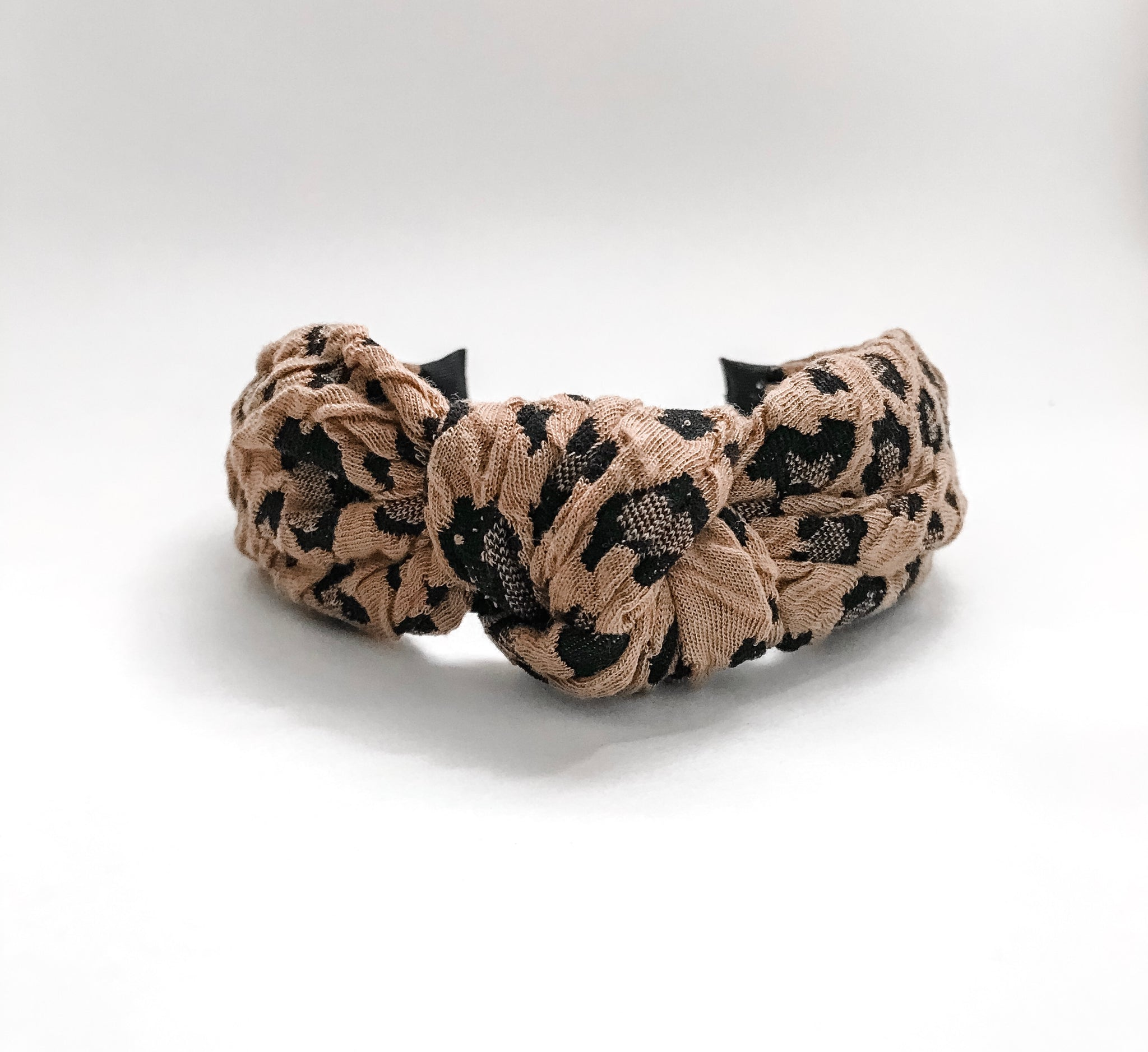 Textured Leopard Knotted Headband