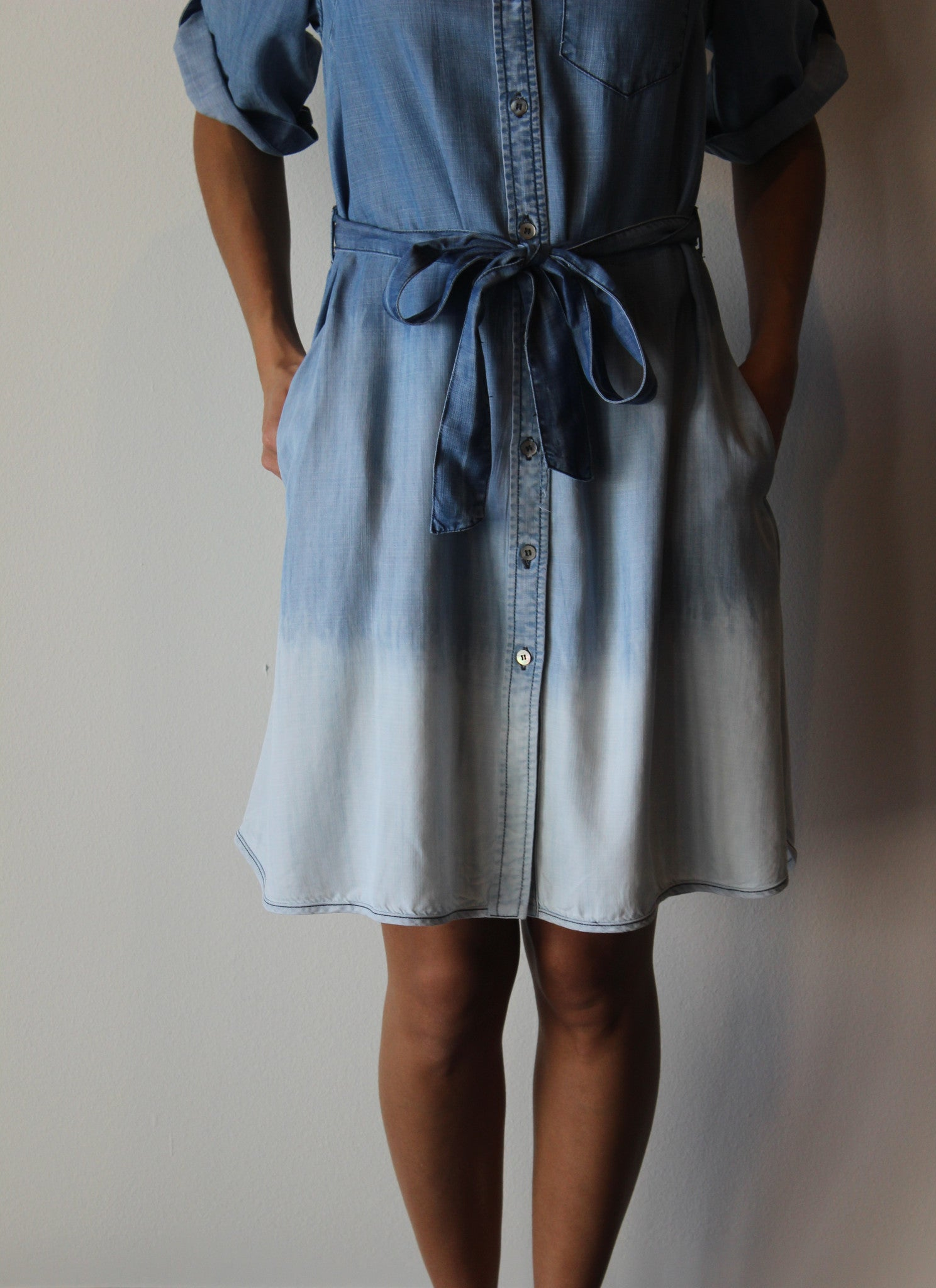 Ombré Chambray Dress